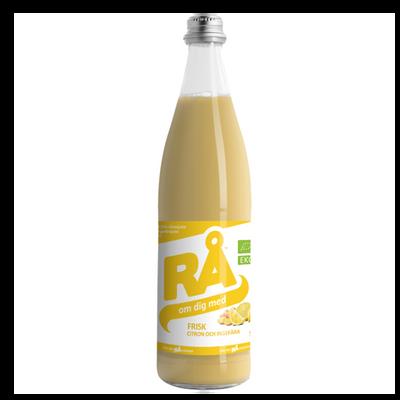 Frisk - Dryck med citron och ingefära på flaska 50 cl. Ekologisk