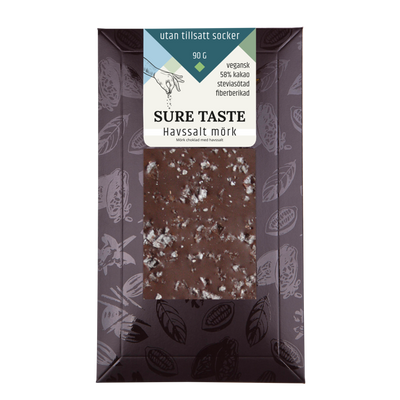 Chokladkaka, havssalt mörk