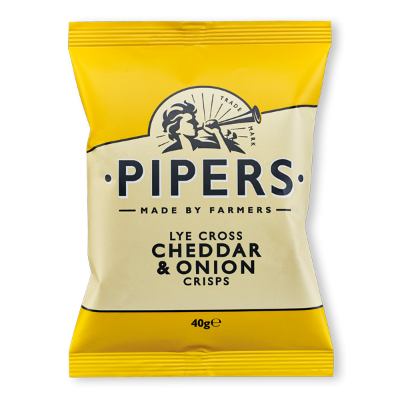 Lye Cross Cheddar & Onion Crisps 24x40g